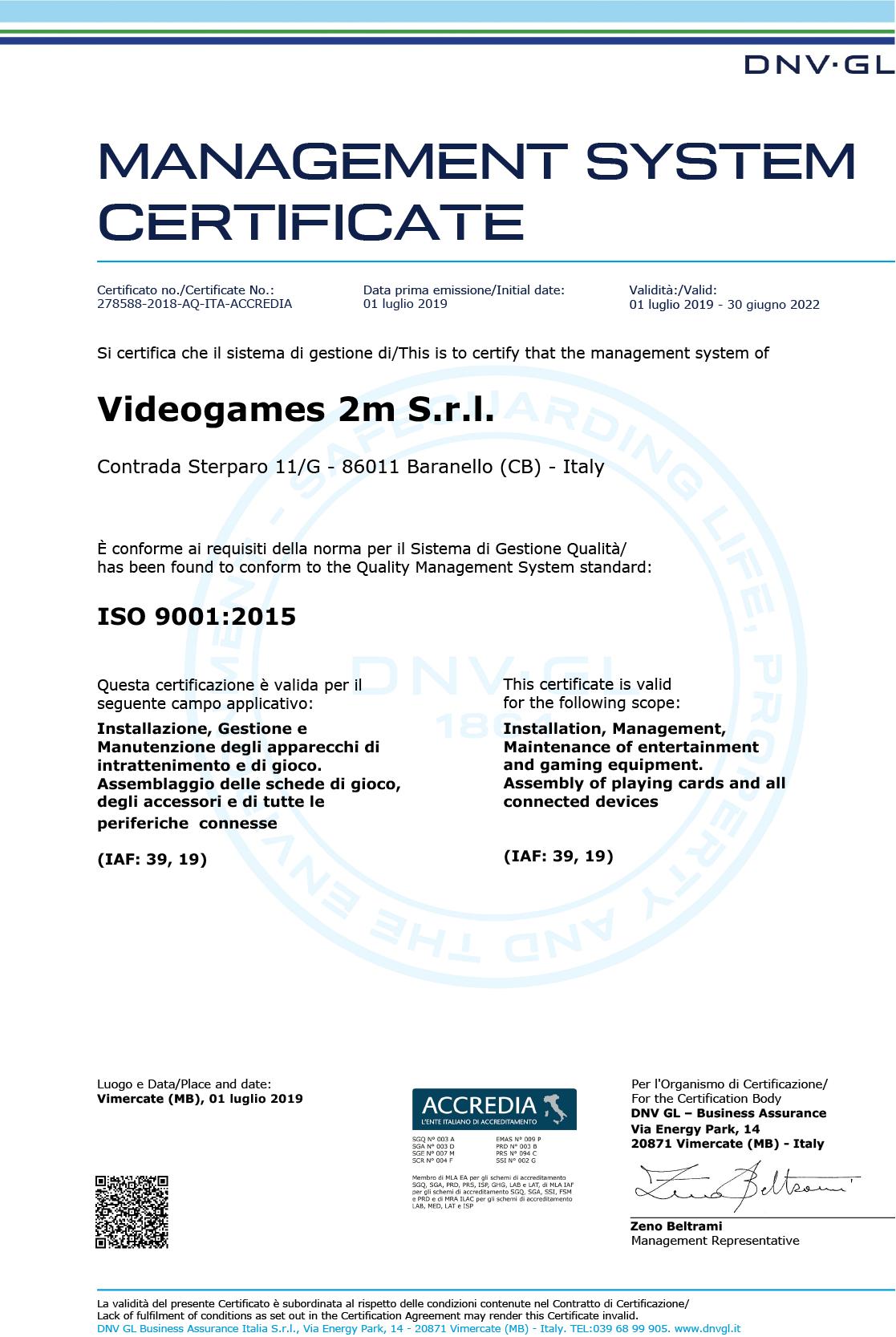 videogames2m_certificato
